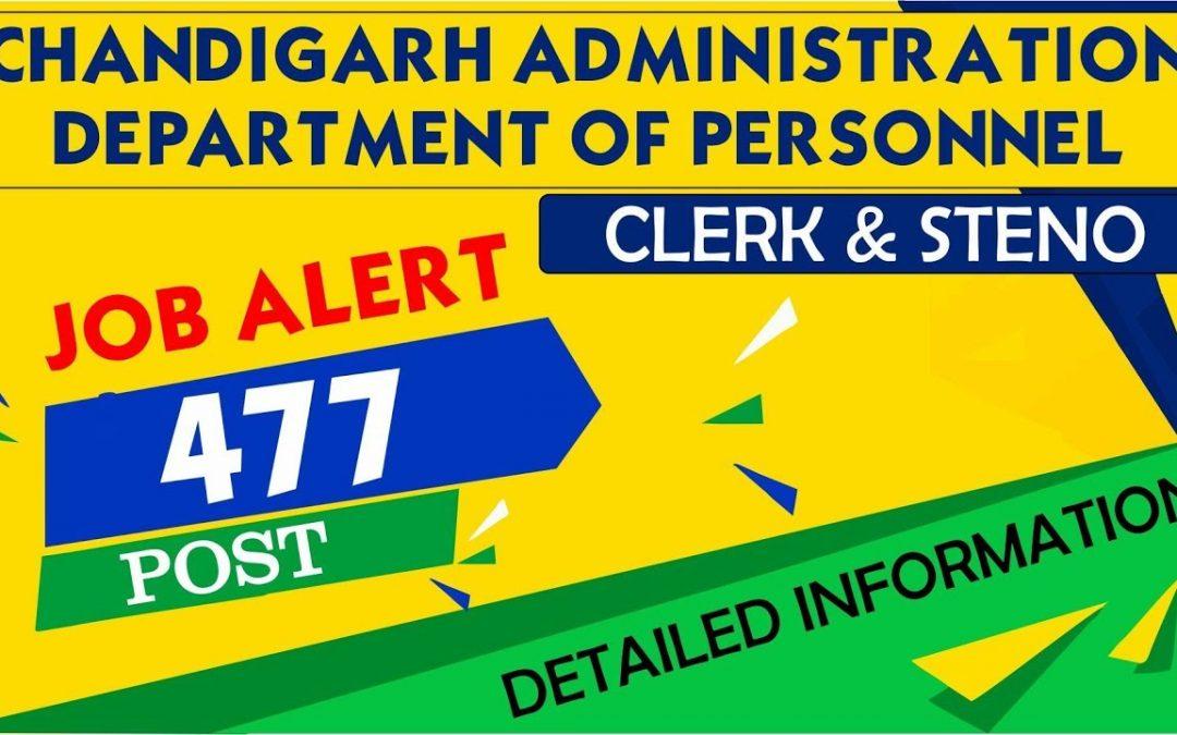 Chandigarh Administration Clerk Recruitment 2019 – 477 Posts